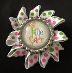 Big Sister / Little Sister Bottle Cap HairFlowers