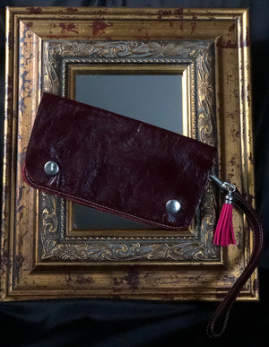 Genuine Leather Clutches - Leather Strap