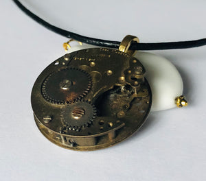Contrast Antique Pocket Watch Necklace