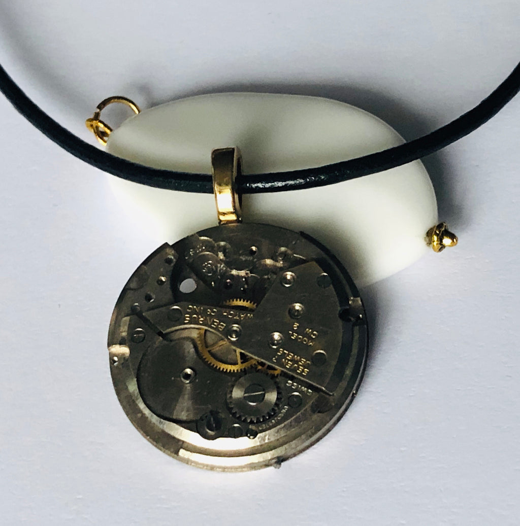 Benrus Antique Pocket Watch Necklace