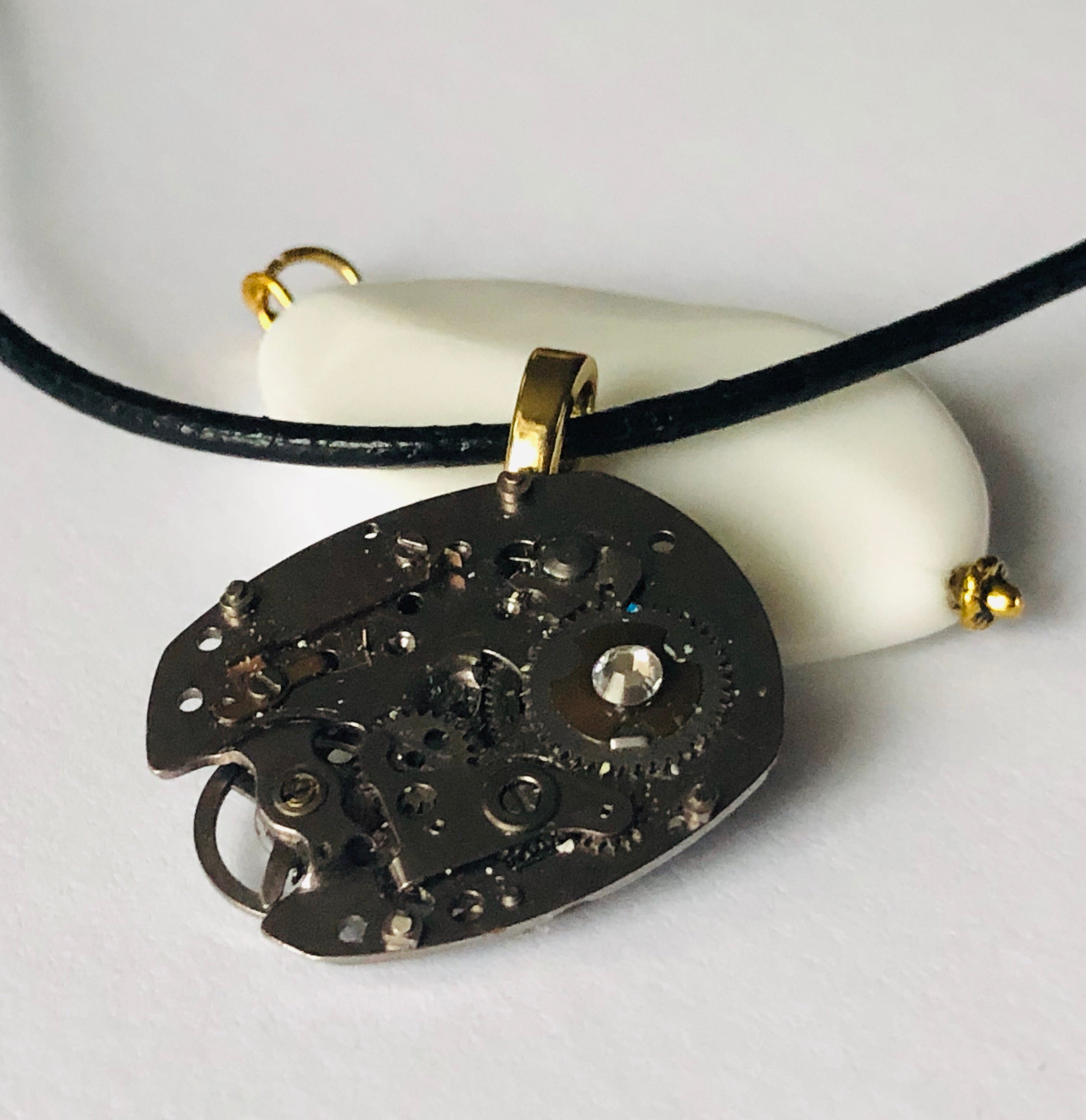 R'Square Antique Pocket Watch Necklace