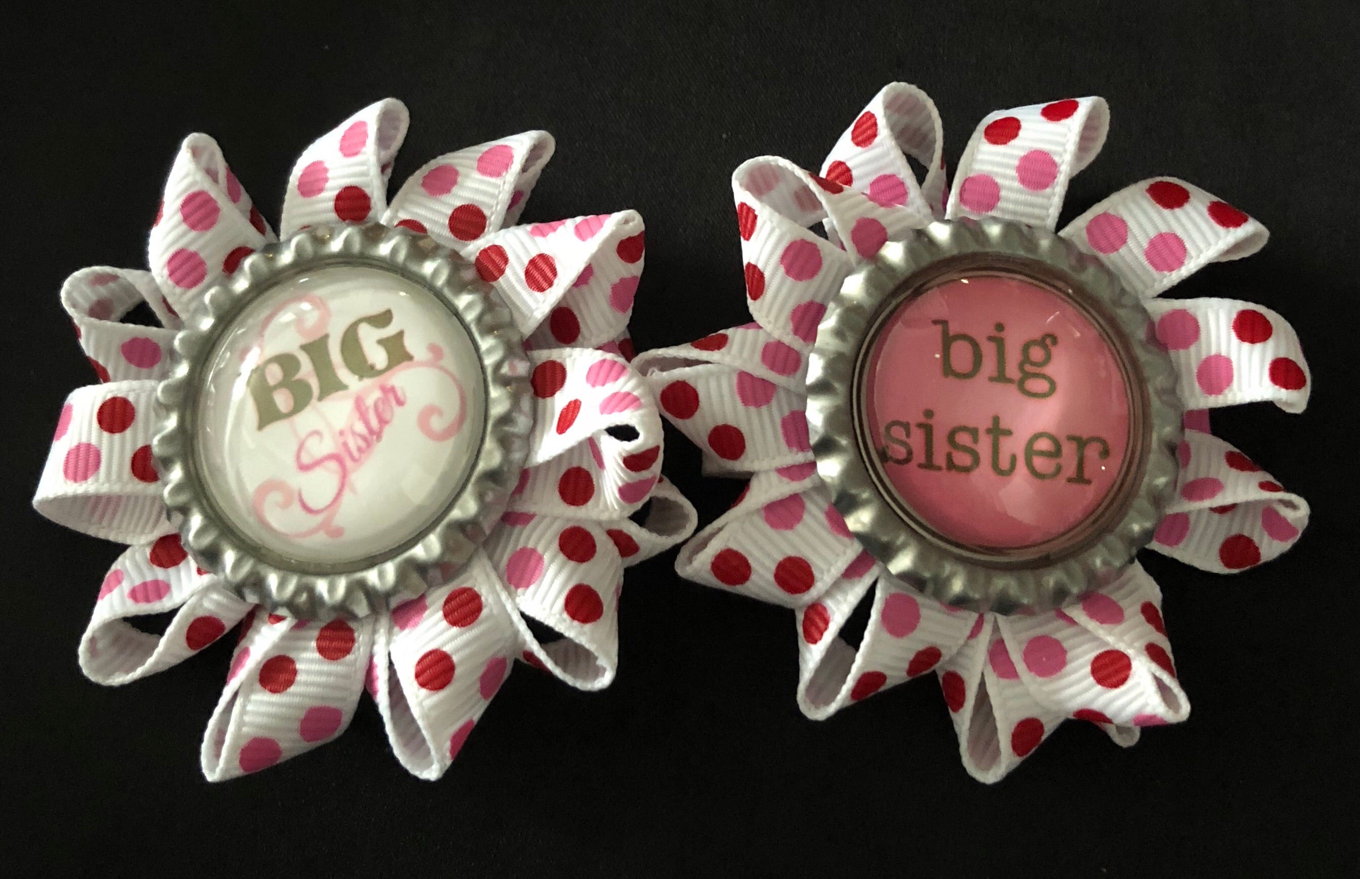 Big Sister / Little Sister Bottle Cap Necklaces