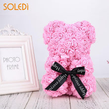 Load image into Gallery viewer, Handmade Rose Teddy Bear - Trendrocketshop