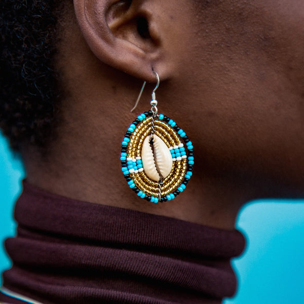 Gold - Cowrie - Shell Earrings