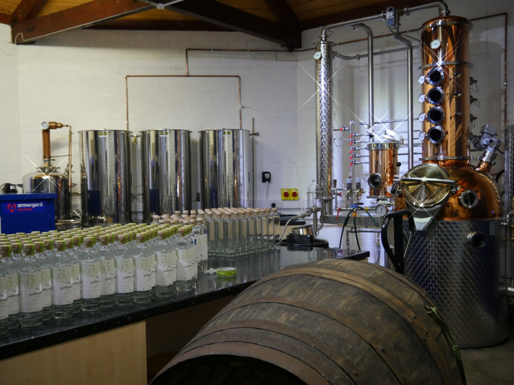 Dyfi Gin Distillery with Still and Barrel