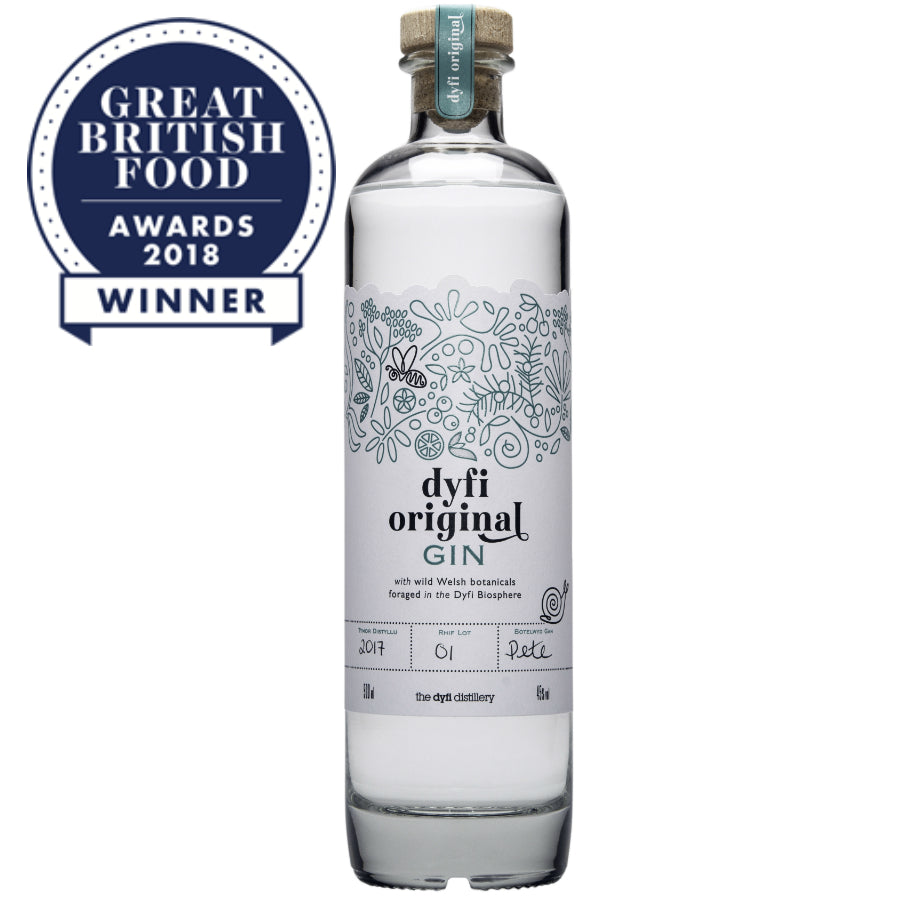 Great British Food Award winner, Dyfi Original Gin