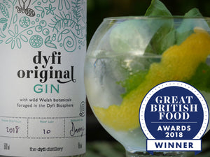 Gin & tonic. Best British Gin award.