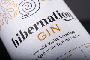 Hibernation Gin label close up