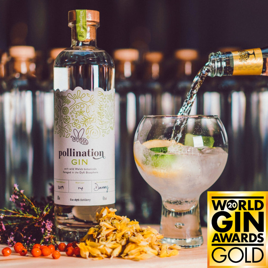 Pollination Gin Gold Award Winning
