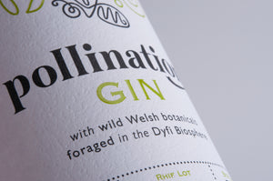 Pollination Gin label close up