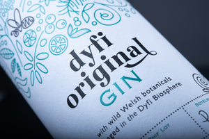 Dyfi Original Gin label close-up