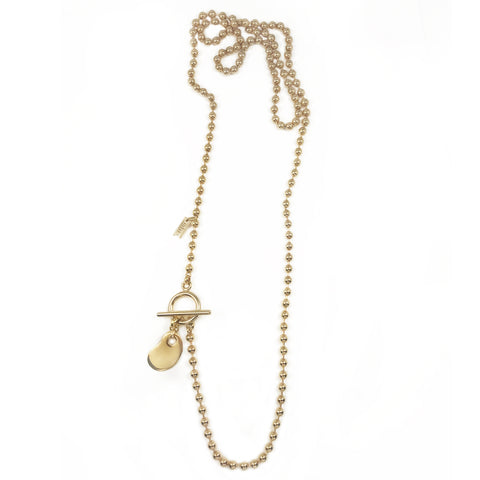 Amoeba Endless Necklace - Gold