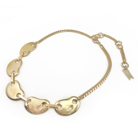 Amoeba Link Collar - Gold