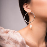 Baroque Hoops - Silver