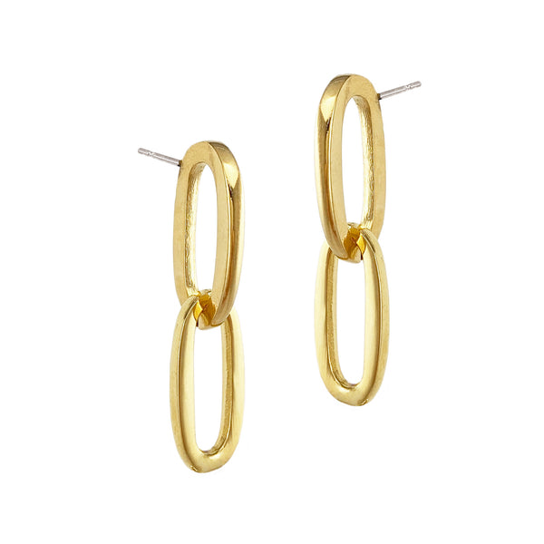 Chainlink Studs - Gold