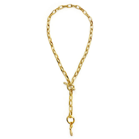 Convertible Chainlink Lariat - Gold