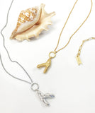 Coral Branch Pendant - Gold