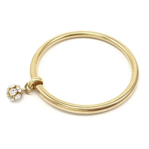Crystal Drop Bangle - Gold
