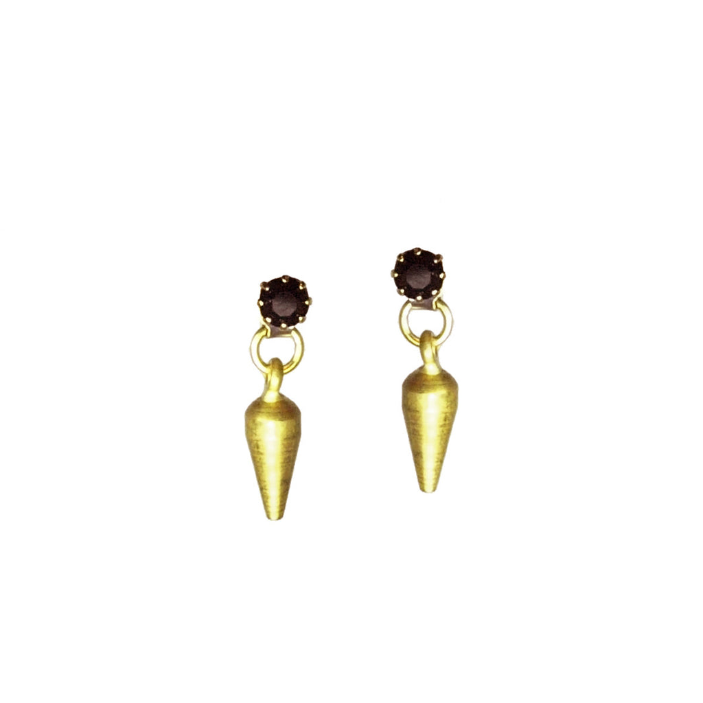 earrings black stud itm lucia crystal silver costin ebay over gold