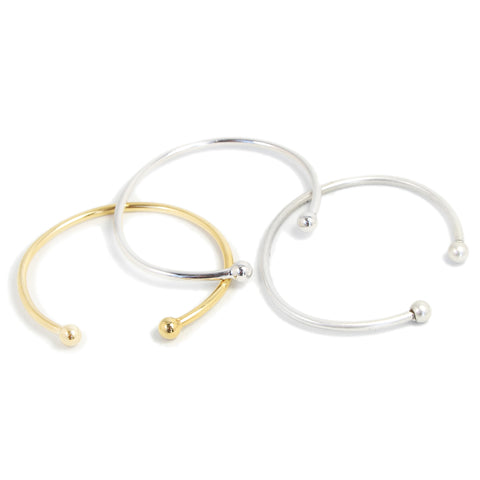 Double Dot Bangle - Luxe Silver / Gold