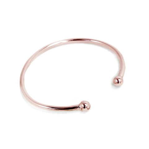 Double Dot Bangle - Rose Gold