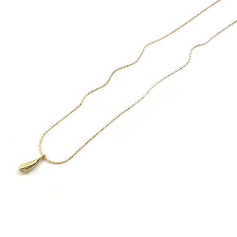 Droplet Pendant - Single - Gold