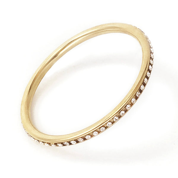 Element Bangle - Gold / Crystal