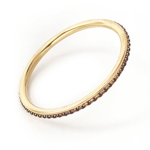 Element Bangle - Gold / Jet