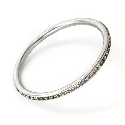 Element Bangle - Silver / Topaz