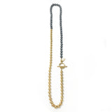 Everyday Wrap Necklace - Gold / Charcoal