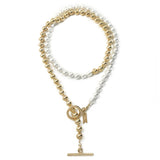 Everyday Wrap Necklace - Gold / Ivory