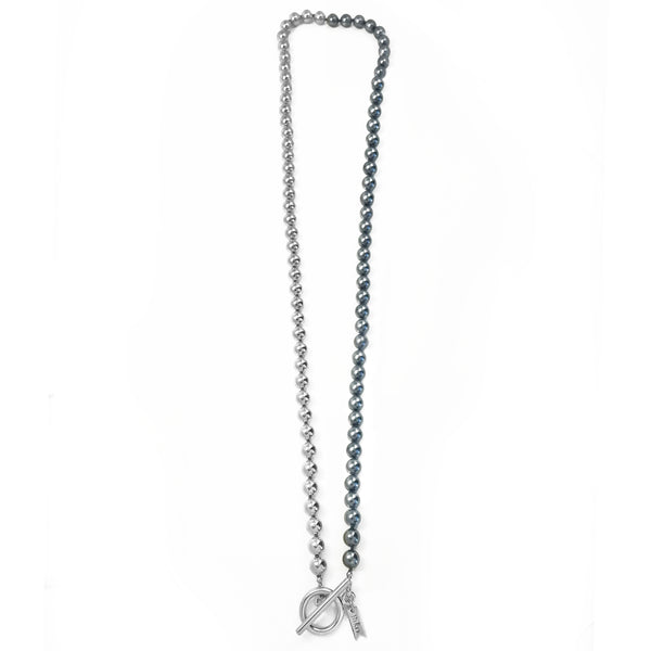 Everyday Wrap Necklace - Silver / Charcoal