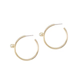 Pearl Floret Hoops - Medium - Gold