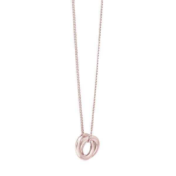 Forget Me Knot Pendant - Rose Gold