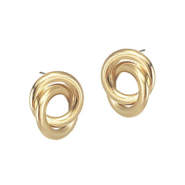 Forget Me Knot Studs - Gold