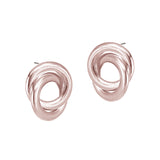 Forget Me Knot Studs - Rose Gold