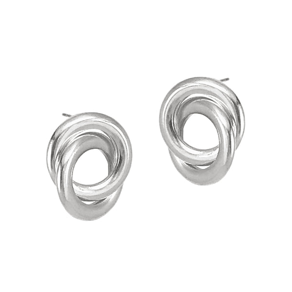 Forget Me Knot Studs - Silver