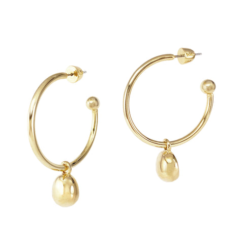 Galina 2-in-1 Hoops - Large - Gold