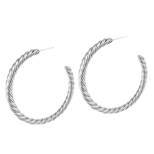 Helix Hoops - Large - Silver