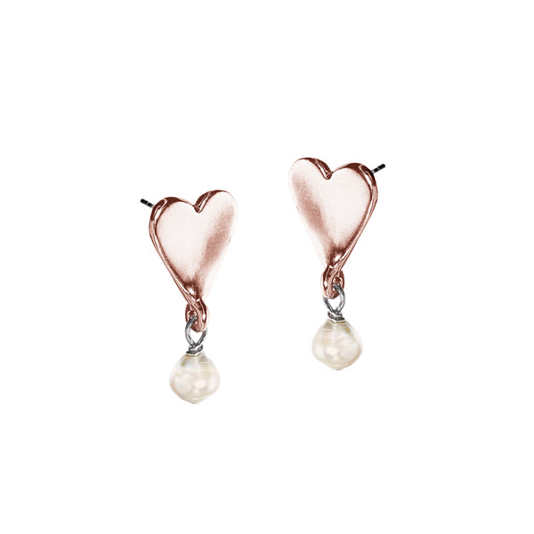 J'Adore Pearl Drops - Rose Gold