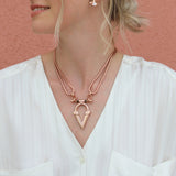 Kai V Necklace - Rose Gold