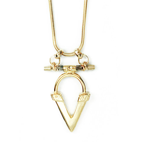 Kai V Necklace - Gold
