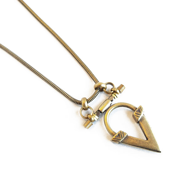 Kai V Necklace - Brass