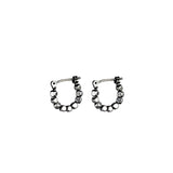 Mini Kobi Loops - Oxidized Silver
