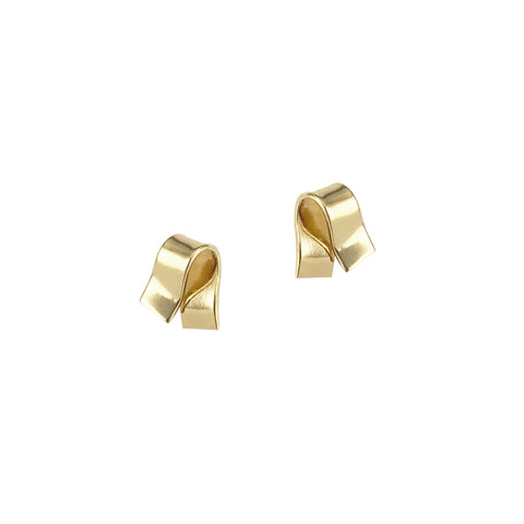 Mini Foldover Studs - Gold