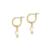 Mini 2-in-1 Pearl Loops - Gold / Ivory