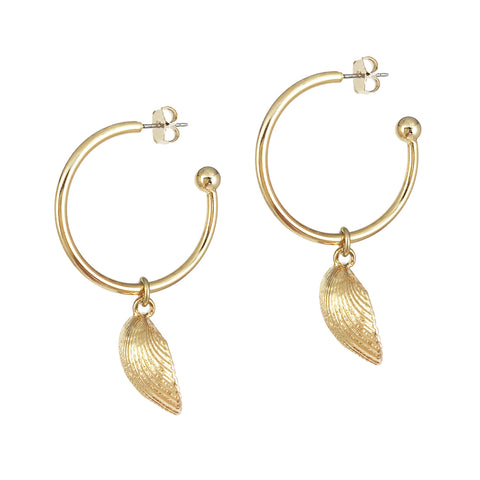 Mini Shell 2-in-1 Hoops - Gold