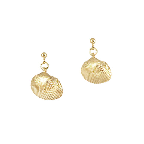 Mini Shell Studs - Gold