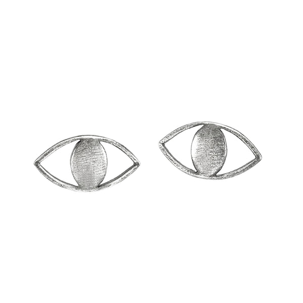 Mini Spy Studs - Oxidized Silver