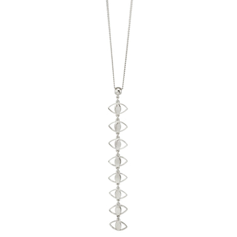 Mini Spy Y-Necklace - Silver